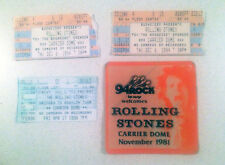 Rolling Stones 1981 Carrier Dome Syracuse Backstage Pass & 94',98' Ticket Stubs