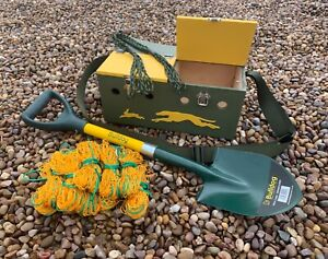 DOUBLE BOW BACK FERRET BOX SPADE SET WITH 10 4FT NETS & GAME CARRIER RABBITING