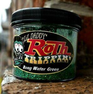 BONG WATER GREEN Lil' Daddy Roth Metal Flake 2oz .015 Kustom Rod Chopper Paint