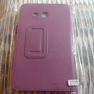 Folio Stand Leather Case Cover For Galaxy Tab 3 Lite 7.0 inch T110Purple