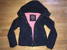 Hollister California All Weather Jacket Fleece Lined Jacket Navy XS