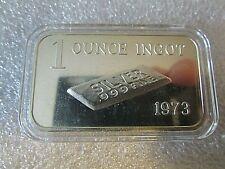 1973 1oz Ingot Crabtree Mint Vintage .999 Fine Silver Art Bar - encapsulated