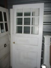 Vintage Exterior Wood Door Measures Approx 36 X 83 9 Panes Glass Large Sq