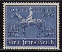 THIRD REICH Mi. #698 mint Blaues Band Horse Race stamp! CV $24.00