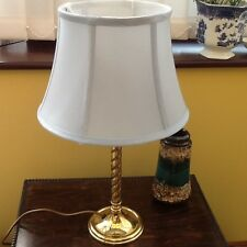 Lovely Brass Like Twisted Stem Table Lamp with Shade