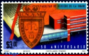 2223 MEXICO 2001 FACULTY OF LAW AT UNAM, 50 YEARS, MI# 2918, MNH