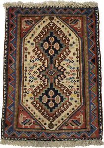 Vintage Rusty Red Tribal Handmade 1'9X2'6 Small Oriental Rug Farmhouse Carpet