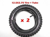 2pcs 12.5 x 2.75 Front Rear Back Tyre Tire 47cc 49cc Mini PIT Monkey Dirt Pocket