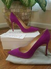 NWT Manolo Blahnik Magenta Suede 105mm BB pumps heels size 38  US 7.5 8