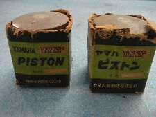 YAMAHA YDS-2 NEW FACTORY OEM PISTONS FOR VINTAGE 250CC MODEL SEE PHOTOS