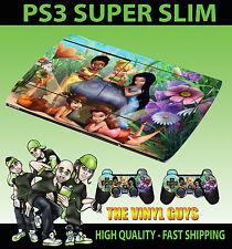 Playstation Ps3 Super Slim Tinkerbell Y Sus Amigos De Hadas Skin Sticker & Pad Skin