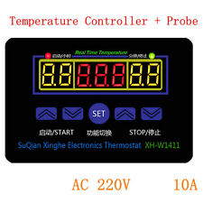 220V 10A Digital LED Temperature Controller Thermostat Control Switch+Probe WD