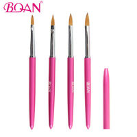 BQAN 1Pc Acrylic Nail Brush Nylon Hair Metal Handle Nail Art Manicure Tool