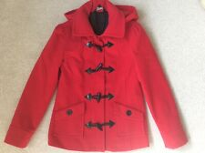 Red duffle coat with hood size 8