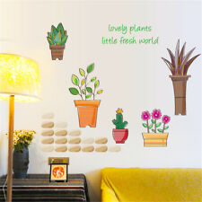 Green Potted Plants Room Home Decor Removable Wall Sticker Decal Decoration