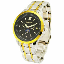 THAITIME Unique Quartz Round Dial Case Waterproof Men's Business Wrist Watch