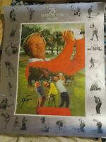 Jack Nicklaus signed autographed Lithograph 25 years on tour pga masters golf