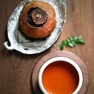 Orange Pu Erh Tea - Red Tea Ripe Citrus Loose Leaf China Aged Pu'ertea 60g