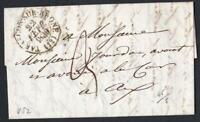 MARQUE POSTALE DE 1838 TARASCON SUR RHONE