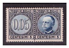 1929  -  MARCA DA BOLLO  SCAMBI COMMERCIALI   CENT. 5  NUOVA **