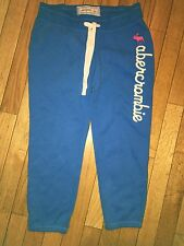 NWOT Abercrombie Girls Large Classic Banded Blue Sweatpants Pink Moose Gym