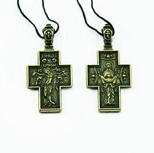 Orthodox Body Brass Cross Icon Православный Нательный Крест Икона Пояс Богородиц