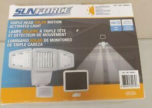 Sunforce Solar Triple Head Motion Activated Security Light 1500 Lumens Open box