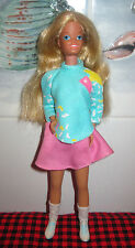 1980 Vtg. Skipper Teen Doll~Thick Variegated Blonde Hair~7 Pc.Outfit~Bend Legs