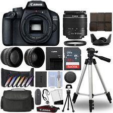 Cámara SLR Canon EOS 3000D/Rebel T100 + Kit de 3 Lentes 18-55mm + 32GB Kit Mejor Valor