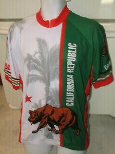 California Republic Flag by World Jerseys Bicycling Jersey shirt Men's 2XL New