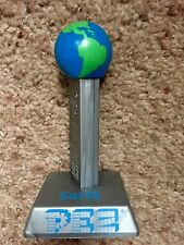 """PEZ Retired """"EARTH"""" With Planet Series Stand - Never Sold In Stores - Mint"""