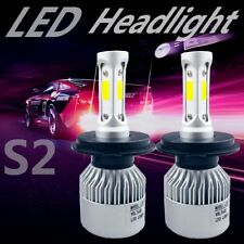 2 x H4 led 72W 8000LM S2 Headlight Car Hi/Lo Beam Auto Bulbs 6500K White