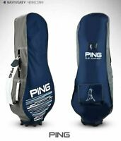 2021 Ping Premium Fabric Travel Golf Bag Cover Navy Hood Case Flight Carry_UK