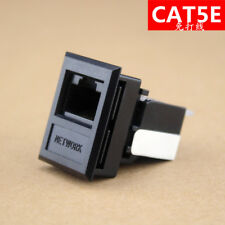 Black CAT5E network socket Module,Free Wire Bonding CAT5E RJ45 Module