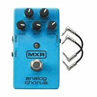 MXR M234 Analog Chorus Bucket Brigade Guitar Effects Pedal + 2 Patch Cables
