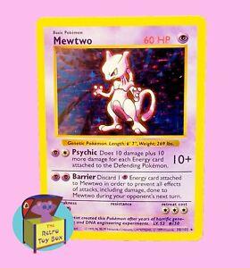 1999 Pokemon Base Set Shadowless Holo Mewtwo 10/102