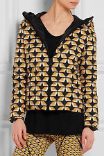 NWT 1.7K Fendi Bag Bugs Reversible Printed Shell Down Jacket, Size 42