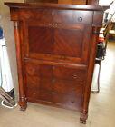 PAID $2200 Baker biedermeier mahogany drop front secretary desk chest empire