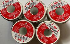 Lot of 5 Oatey 29025 Safe Flo Silver Lead Free Plumbing Wire Solder 1 lb Rolls