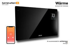 Wärme WiFi Designer Electric Panel Heater - Refurbished - Generation X - Black