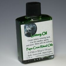 Lottery Oil Anoint Candles Use Spells Wicca Voodoo Full Moon Money Magic