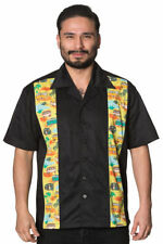 Rockabilly Collared Casual Singlepack Shirts & Tops for Men