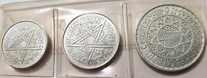 UNC MOHAMMED V 1951 MOROCCO 1,2, 5 FRANCS UNC ALUMINIUM Coins XF UNCIRCULATED RR