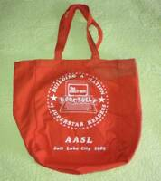 Vintage AASL School Librarians Canvas Tote BAG Conference Trade Show Library