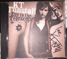 KT TUNSTALL SIGNED EYE TO THE TELESCOPE CD ALBUM FOLK ROCK AUTOGRAPH TO HASEEB