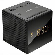 Sony ICF-C1 Black FM/AM Cube Clock Radio with Gradual Wake & Single Alarm New