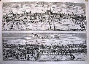 Antique map, Salinae Saxonicae - Hall in Sachsen / Hildesheim