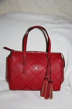 Authentic GUESS Women's  Hartzel Grosgrain Carryall ( red ) - NWT