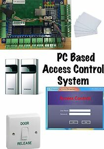 Door Access Control System with Samsung Proximity Card Reader and Software