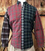 Ralph Lauren Men's Large Shirt Button Down Plaid Checks Red Green Pony Casual